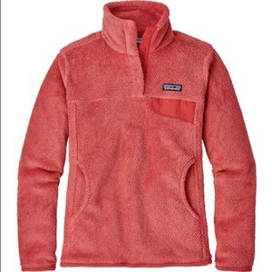 Orange Patagonia Fleece Pullover